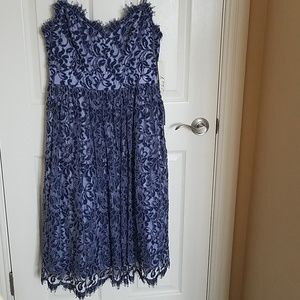Eliza J Blue Lace Overlay Dress